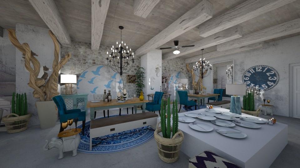 Mykonian Resto Interior - Country - Living room - by Nikos Tsokos