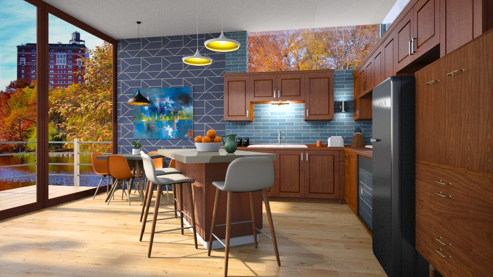 Mid Century Mod Kitchen - Kitchen - by  krc60