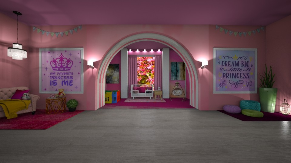 Modern Pink Nursery - Modern - Kids room - by Art_Decoration