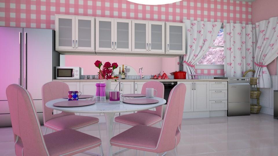 Pink - Kitchen - by ijustlikemakingfloorplans