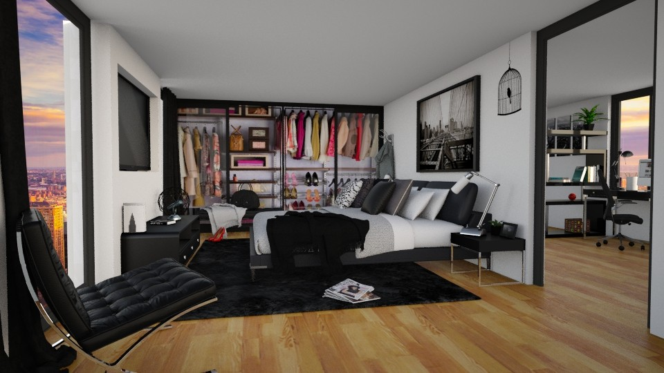 Back to Black - Bedroom - by carina68