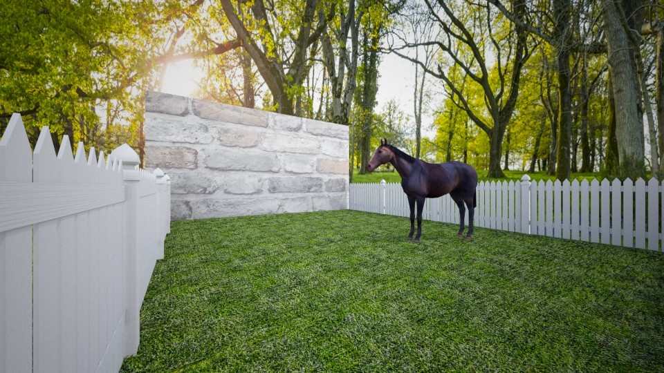 Horse barn - by madz29