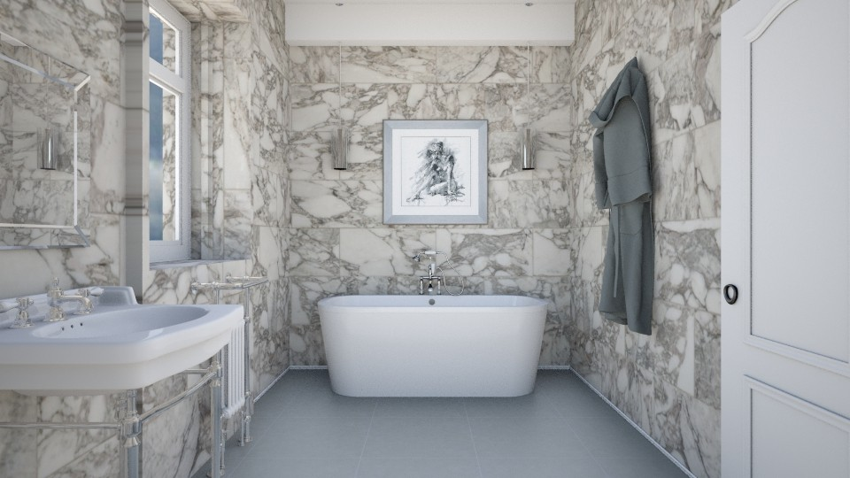Gothic Time - Bathroom - by mclaraop