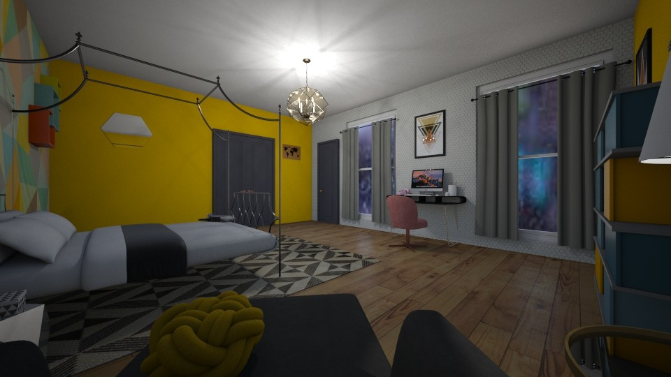 geo room - Bedroom  - by Lili Cooley
