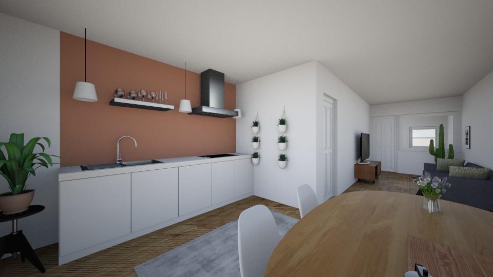 Woonkeuken - Modern - Living room - by Maylan van der Grift