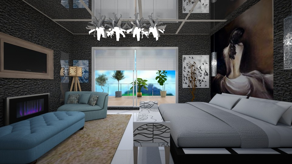 black and white bedroom - Modern - by cris oliveira
