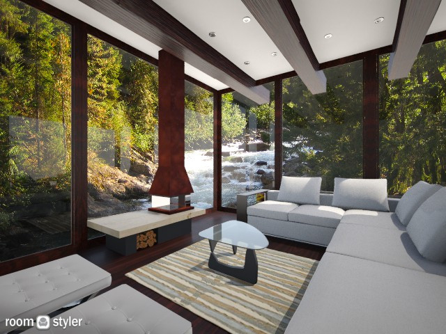 creek house - Living room - by AndreaMTorres1
