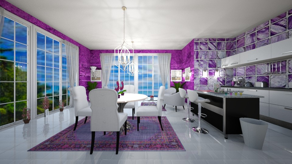 Purple kitchen - Modern - Kitchen - by sandra__012