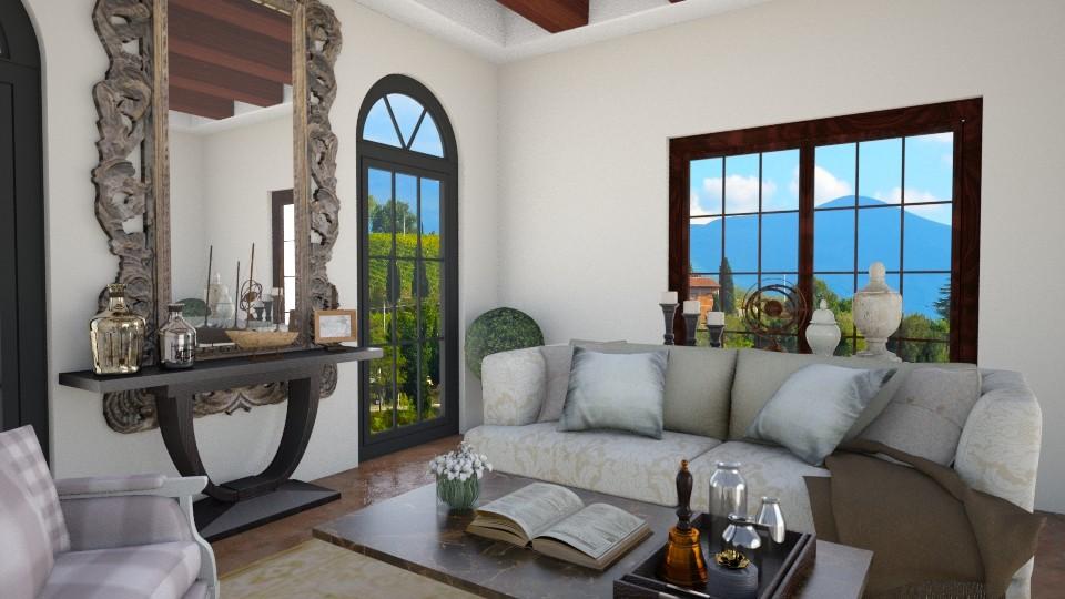 Villa - Rustic - Living room - by klmmorales