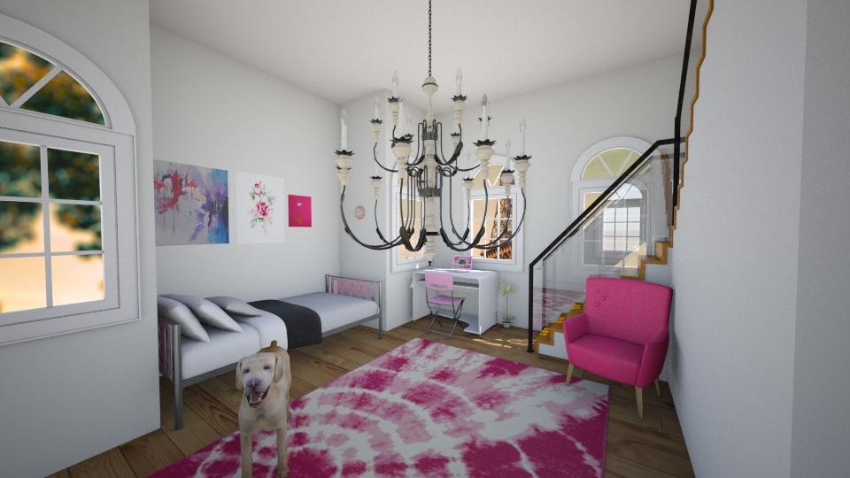 Pink Bedroom - Bedroom - by Sunny Bunny