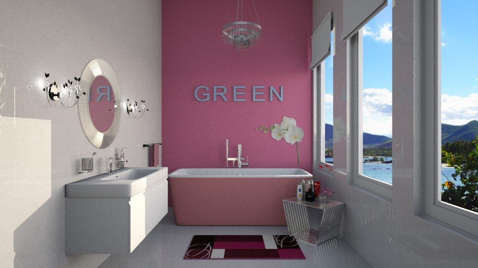 Rose Green - Feminine - Bathroom - by Rose Hdz