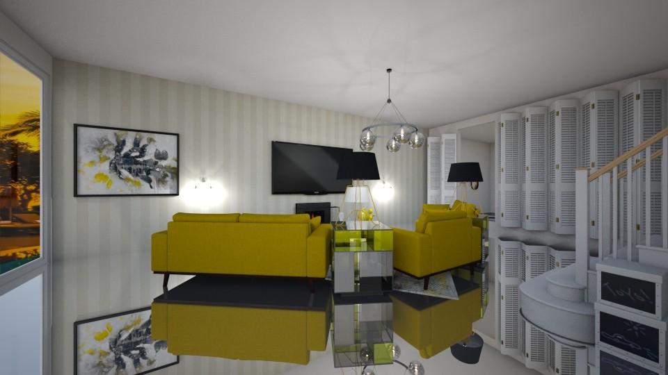 yellow chairs - Living room - by nicolaswiggins