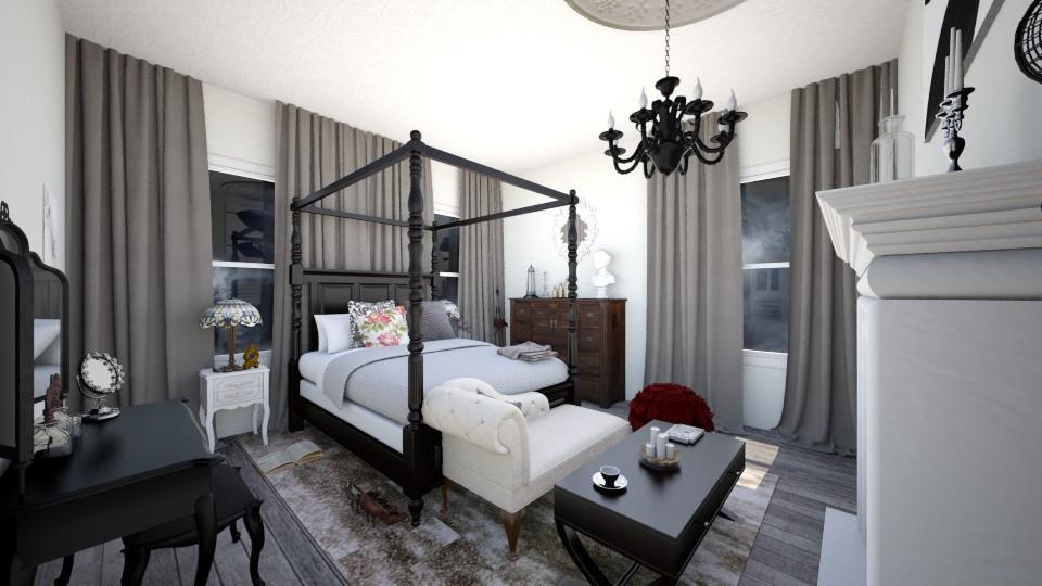 Gothic modern - Bedroom  - by RANDIGILES