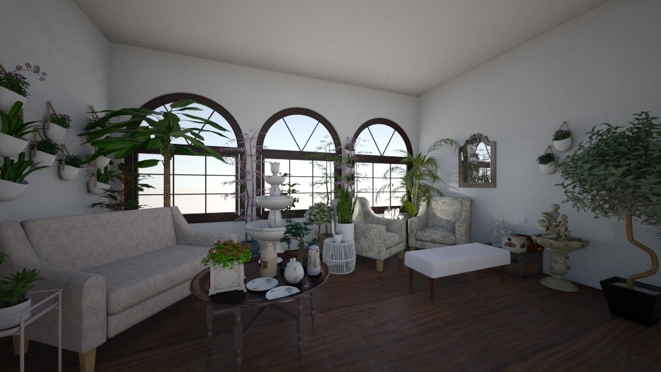 floral paradise - Feminine - Living room - by elladesign