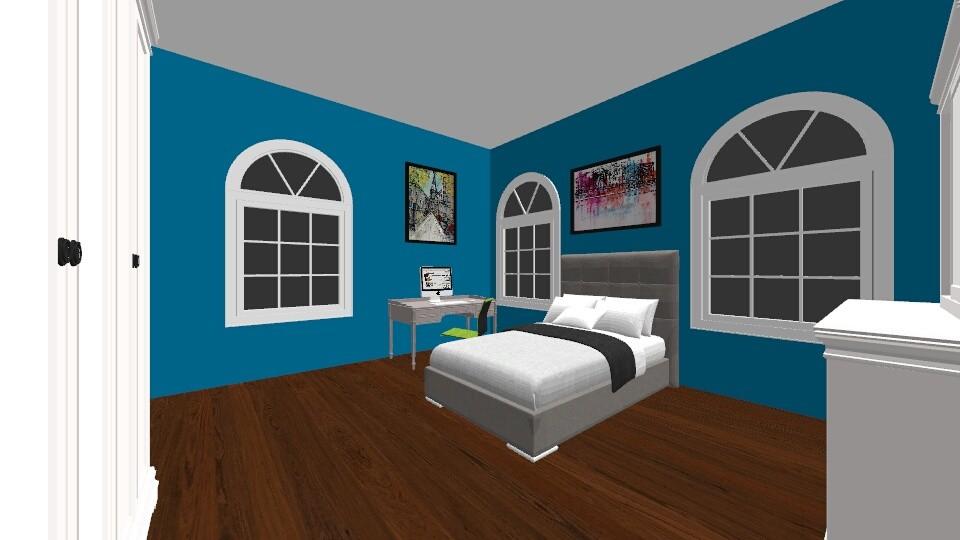 Bedroom Blue - Bedroom - by snowytiger6