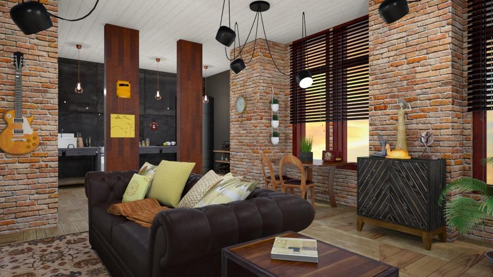 studio 1 - Kitchen  - by elhamsal24