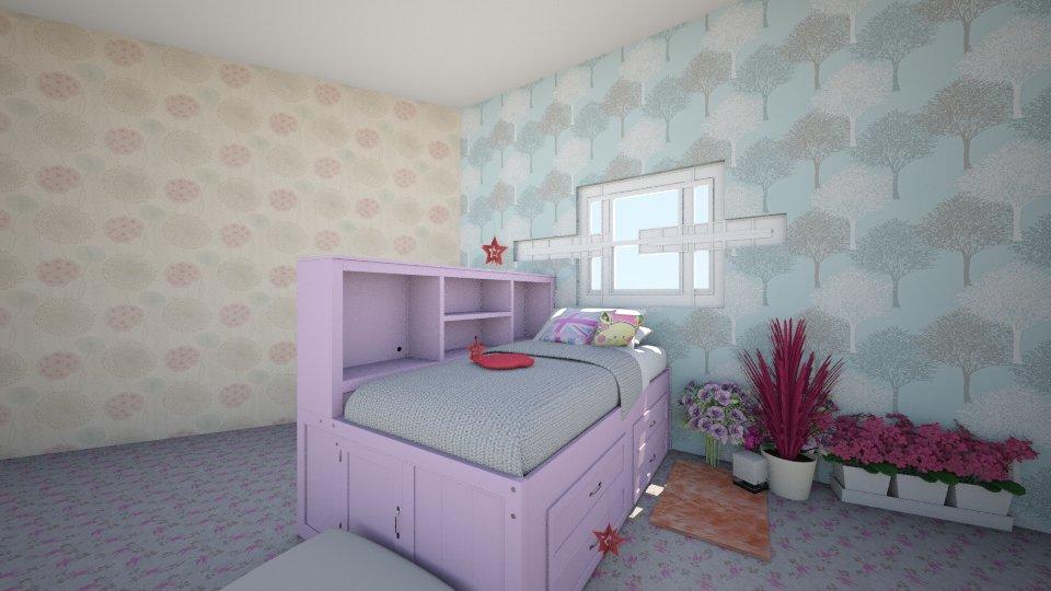 Teenage_Bedroom_Girly - by WuzKeeily