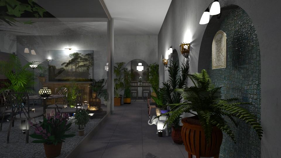 Urban Jungle Hallway - by  krc60