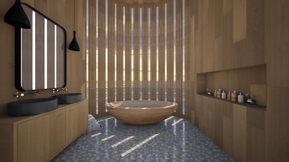 Wood Wood - Bathroom  - by amandafern