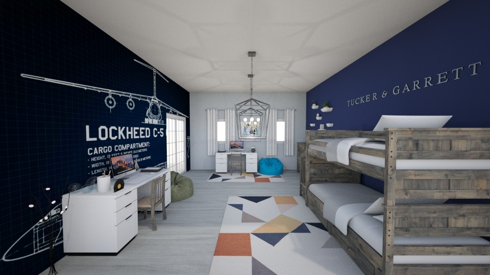 Twin Boys Bedroom - Modern - Kids room - by cbruno23