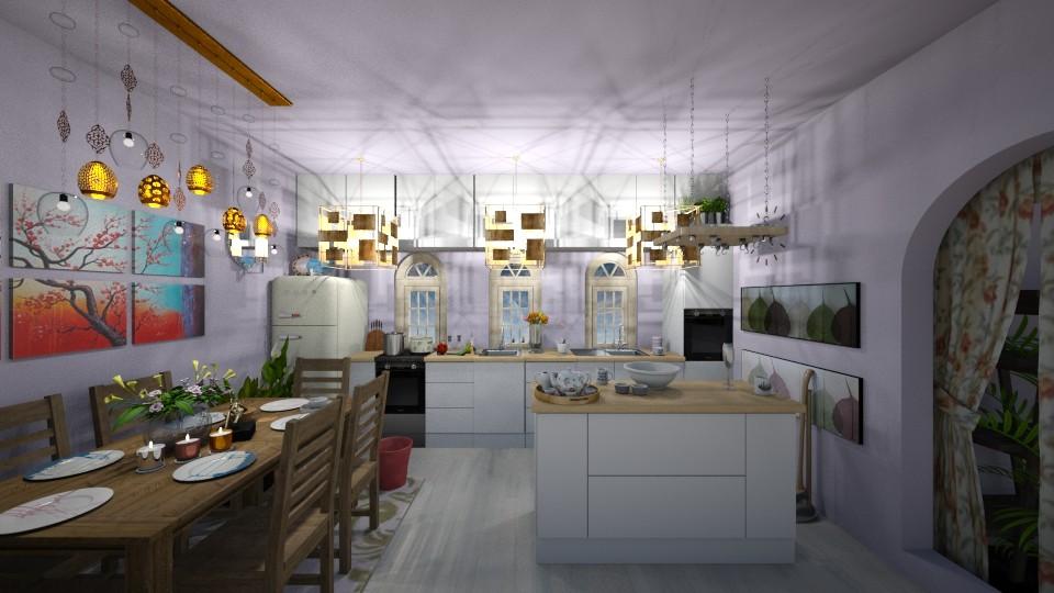 shabby chic kitchen - Rustic - Kitchen  - by Tiny Dancer