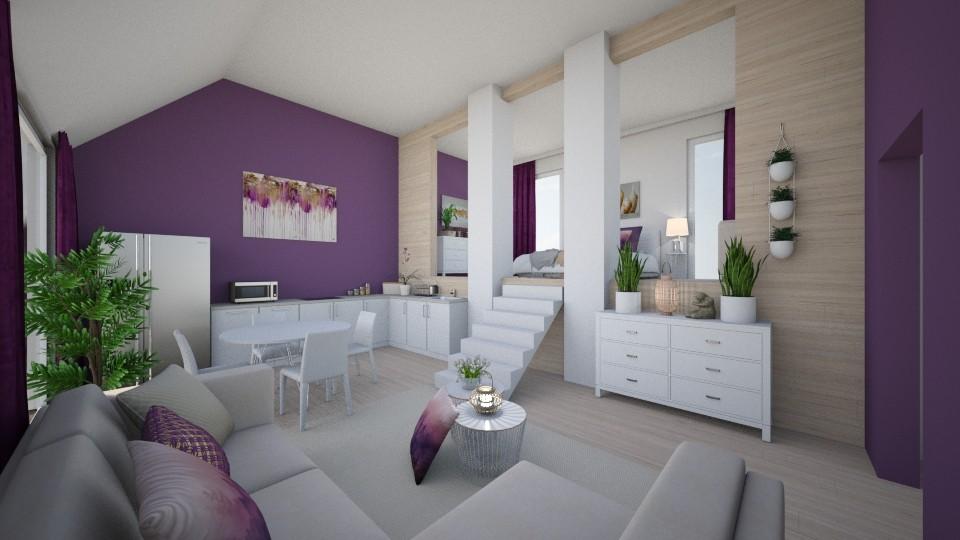 Column vacation house - Modern - Living room  - by tornadolynn