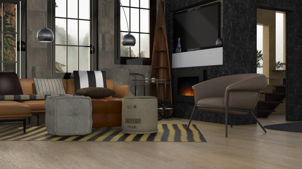 Den - Modern - Living room - by Gurns