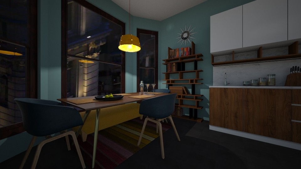 70s Inspired Dining Room - Retro - Dining room  - by lhedrick98