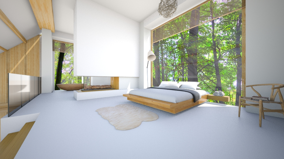Minimal bedroom - by Nufra