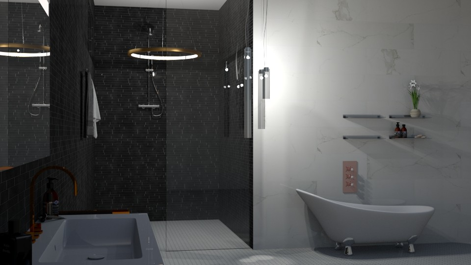 Underground Bath - Glamour - Bathroom  - by JoyG23