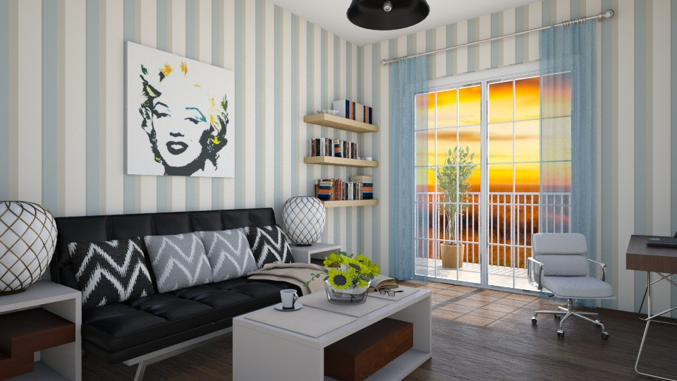 86 Blue summer - Living room - by Agata_ody