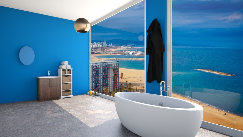 luxe bathroom in city - Bathroom  - by the desingner