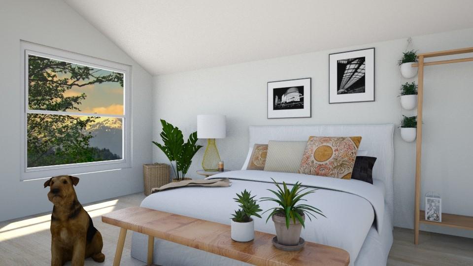 Cozy attic bedroom - Feminine - Bedroom - by NonsenseThings