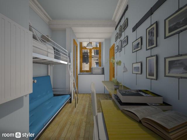 Paris tiny room - by Siti Idrus