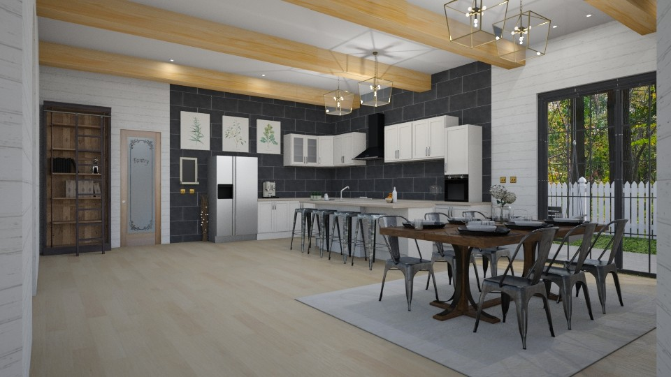 Farmhouse Kitchen - Rustic - Kitchen - by helsewhi