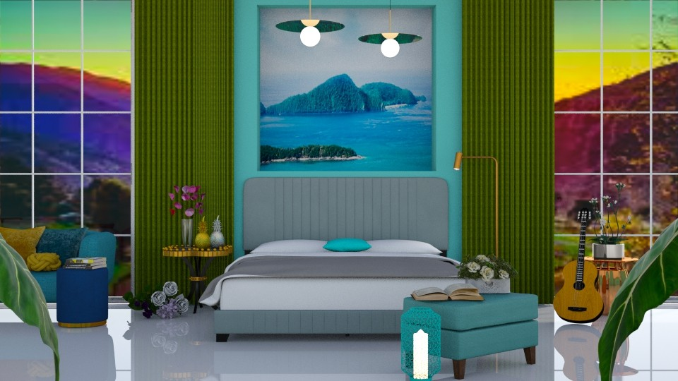 Turquoise Metal - Bedroom - by Art_Decoration