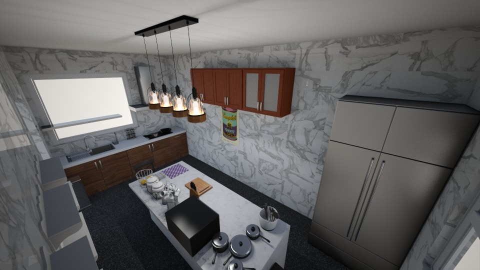 realistic kitchen  - by Rita Odundo
