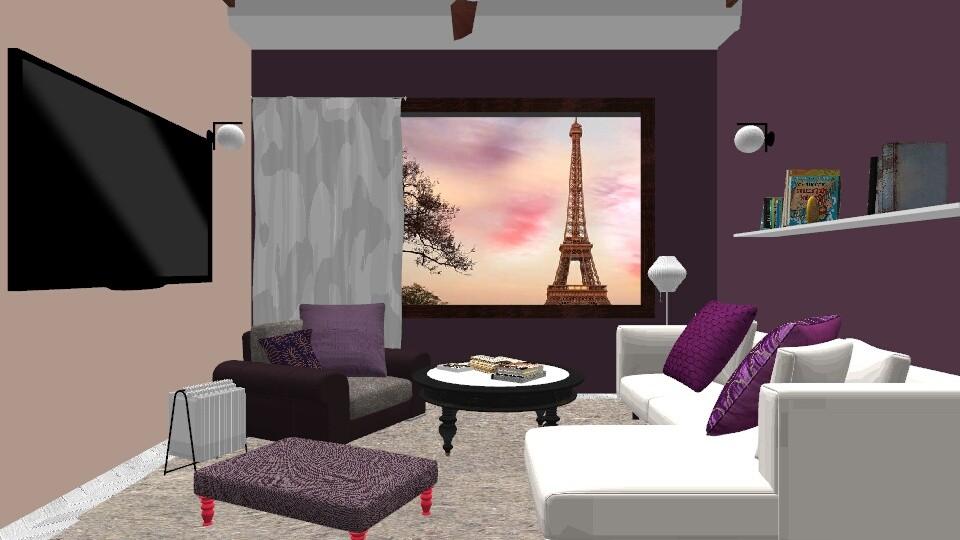 purple - Living room - by Asfa Asad