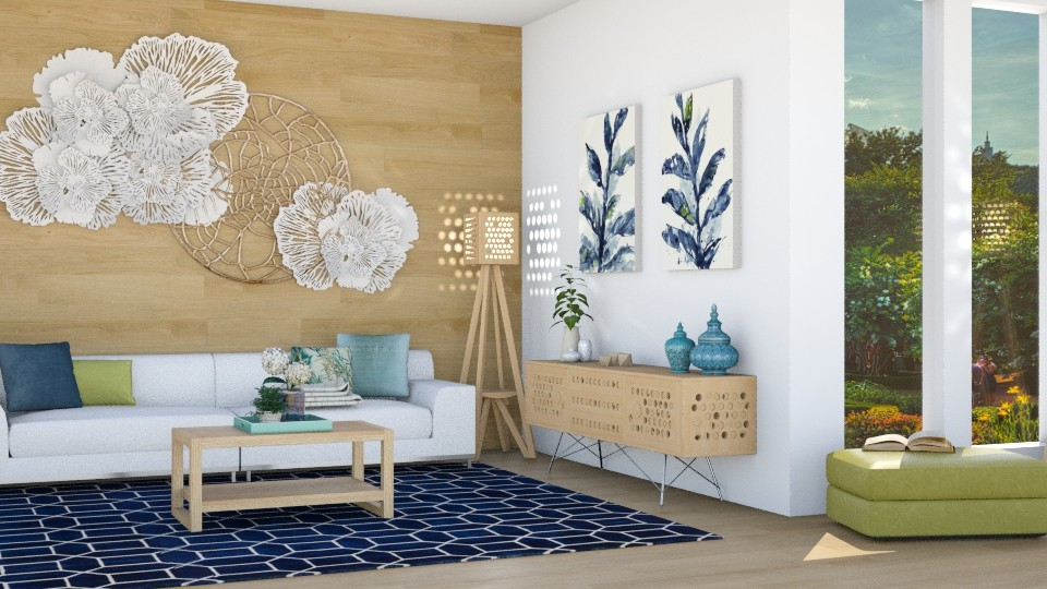 wood interior - Living room - by pandajoy