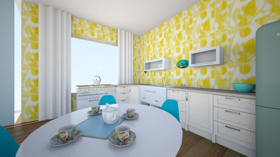 Yellowblue - Modern - Kitchen - by gabrysia347