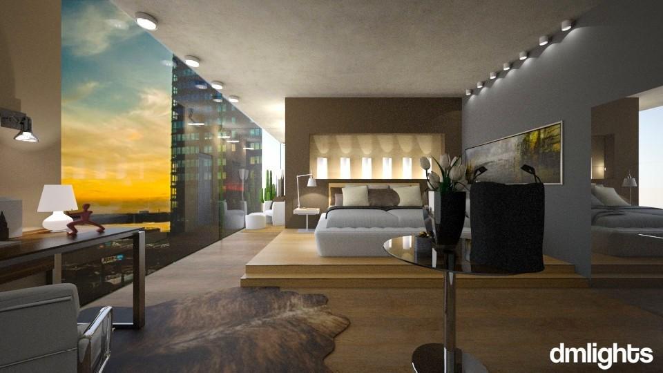 modern bedroom - Bedroom - by Mihailovikj Mimi