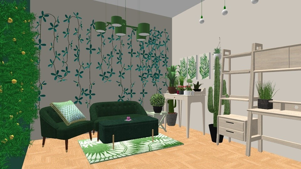 Urban Jungle Living - Living room - by LexieB123