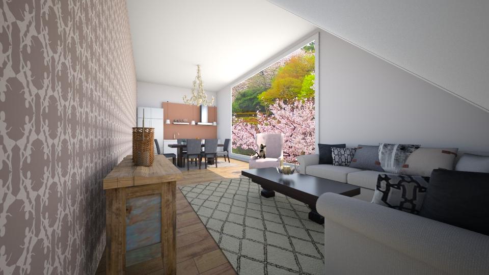 main floor - Living room - by MilenaTheDesigner