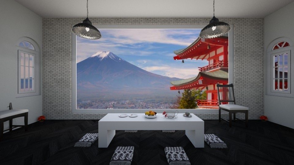 Beauty of Japan - Rustic - Dining room - by haya okdeh