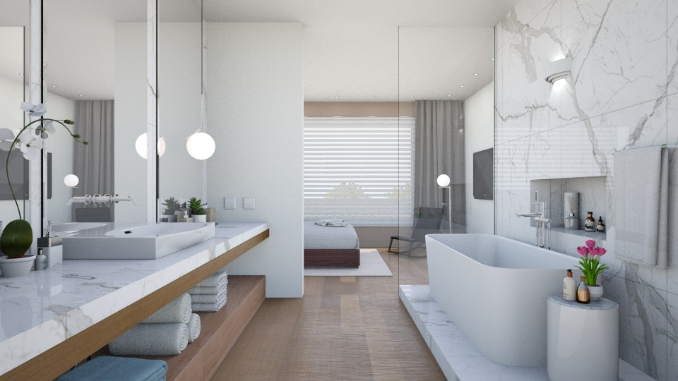 modern bath - Minimal - Bathroom - by Valkhan