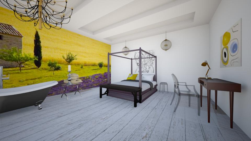 Bedroom view 1 Big room - Bedroom - by Masha Melnik