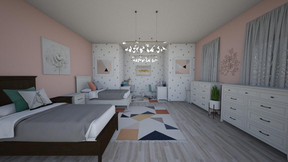 Twin Girls Bedroom - Modern - Kids room - by cbruno23