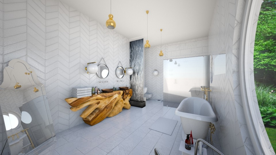 wood and tiles - Bathroom  - by vickymarinello