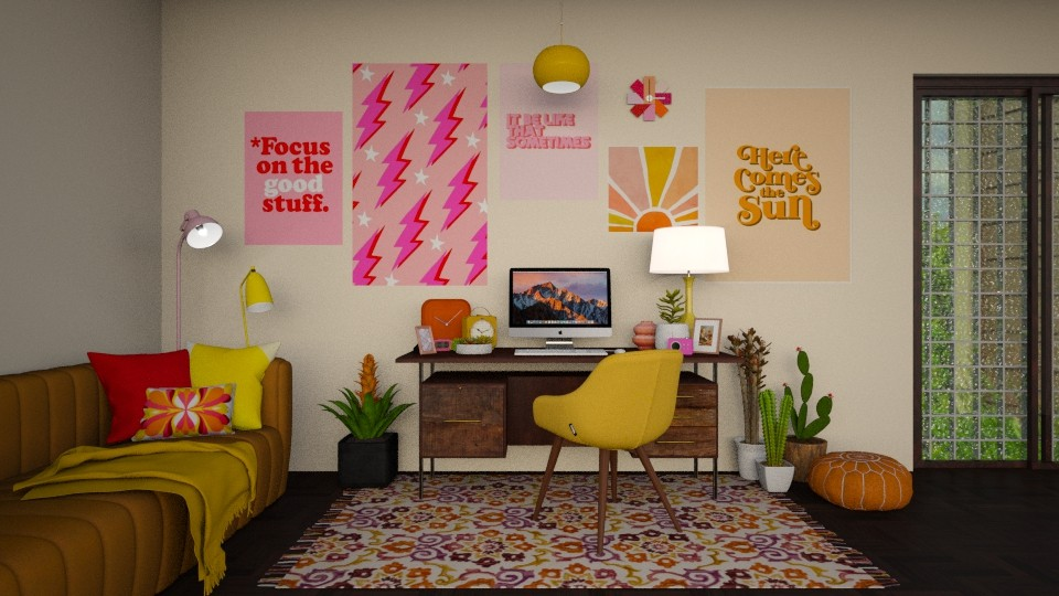 60s inspired teen room - Retro - Bedroom  - by sara1010