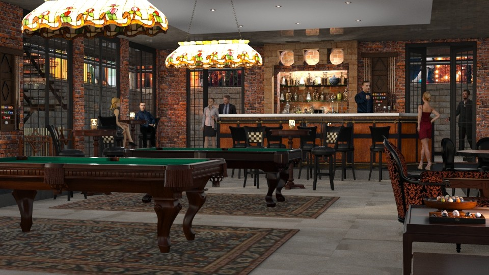 snooker club - Vintage - Dining room - by anchajaya